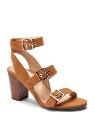 Carmel Leather Triple Strap Sandals by Vionic