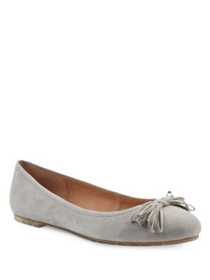 Cassi Spaghetti Bow Suede Ballet Flats by Me Too