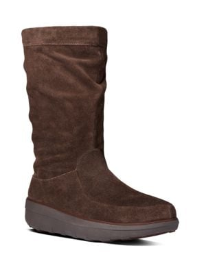 Loaff TM Slouchy Suede Mid-Calf Boots by FitFlop