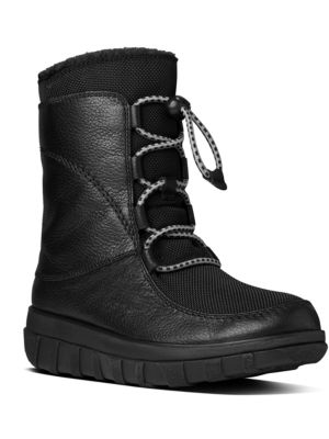Sportylace TM Lace-Up Leather Boots by FitFlop