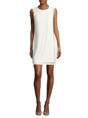 Embellished Mock-Wrap Dress by Jessica Simpson