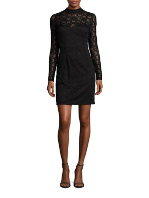 Lace-Overlay Sheath Dress by Taylor