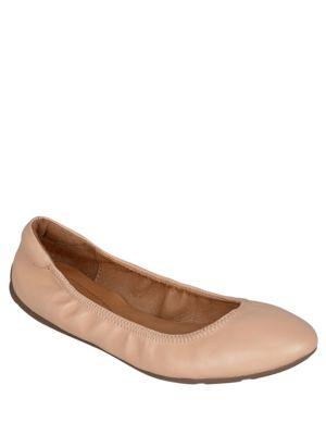 Saturday Almond Toe Leather Ballet Flat by Corso Como