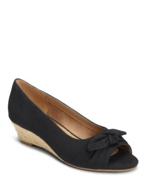 Ship Wreck Open-Toe Wedge Pumps by Aerosoles