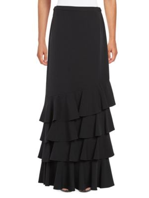 Ruffled Maxi Skirt by Alex Evenings