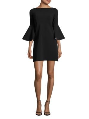Natalie Bell-Sleeve Shift Dress by La Petite Robe di Chiara Boni
