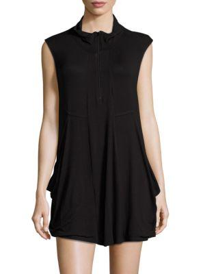 Cowlneck Jersey Cover-Up Dress by J Valdi