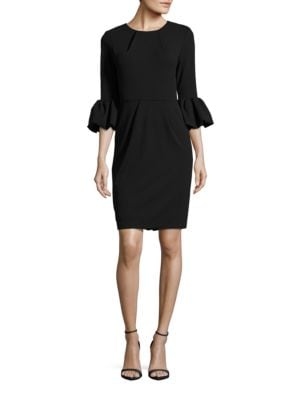Trumpet Sleeve Sheath Dress by Betsy & Adam