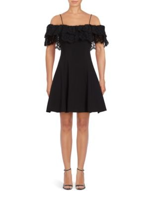 Lace Popover Party Dress by Betsy & Adam