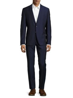 Extra Slim Virgin Wool Jacket and Pants Suit by strellson
