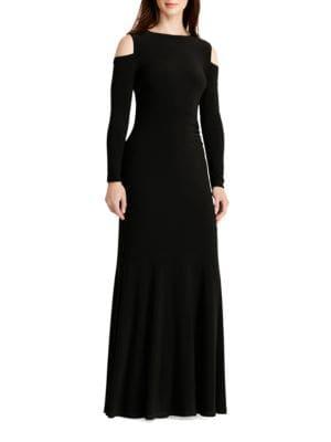 Cold-Shoulder Jersey Gown by Lauren Ralph Lauren