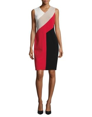 Colorblocked Sheath Dress by Calvin Klein
