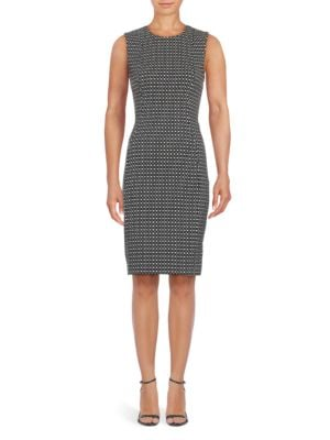 Geometric Print Sheath Dress by Calvin Klein