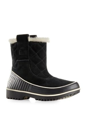 Tivoli Suede & Fur Pull-On Boots by Sorel
