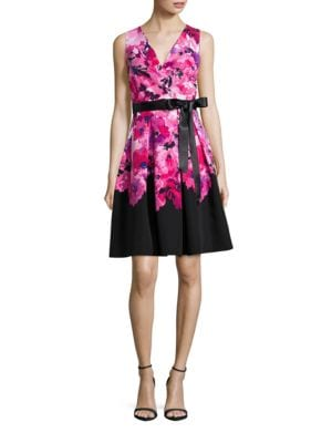 Floral Fit-and-Flare Dress by Xscape