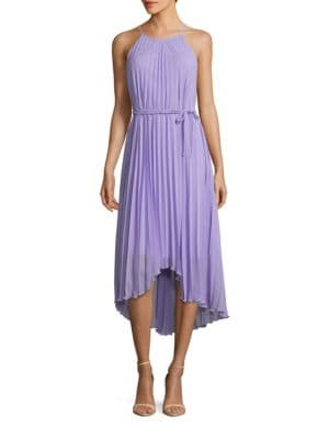 Pleated Halter Dress by Chetta B