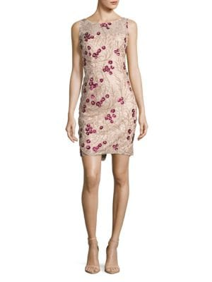 Sleeveless Floral Sequined Dress by Calvin Klein