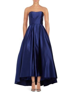 Strapless Satin Gown by Betsy & Adam