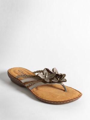 Brisk Juniper Leather Thong Sandals by Clarks
