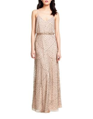 Sequined Blouson Gown by Adrianna Papell