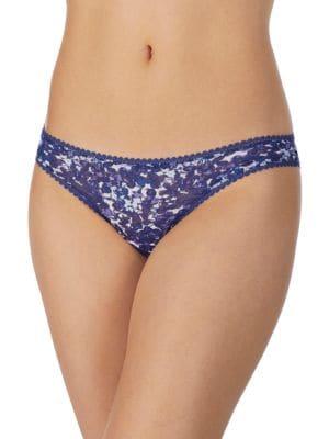 Speckle Print Mesh Bikini...