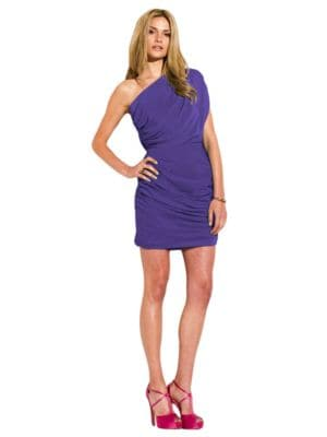 Draped One-Shoulder Dress by Laundry by Shelli Segal