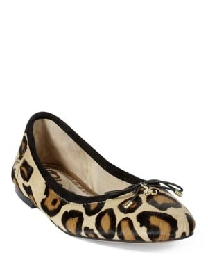 Felicia Leopard-Print Leather Flats by Sam Edelman
