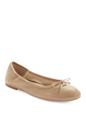 Felicia Leather Ballet Flats by Sam Edelman