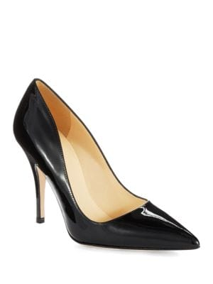 Licorice Patent Leather Pumps by Kate Spade New York