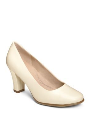 Dolled Up Leather Pumps by Aerosoles