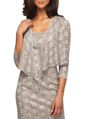 Sequined Lace Jacket by Alex Evenings