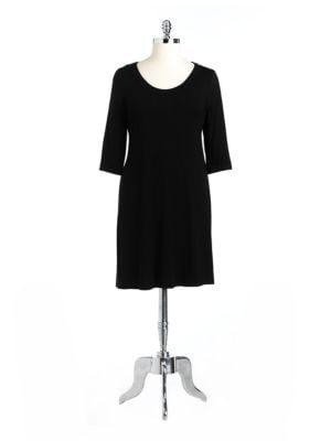 Plus Scoopneck A-Line Jersey Dress 500065156259