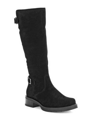 Gabriel Stone-Oiled Suede Waterproof Boots by La Canadienne