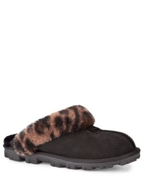 Buy Coquette Leopard-Print Sheepskin Slippers by UGG online