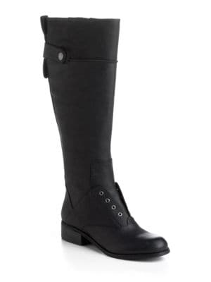 Vanista Leather Riding Boots by Nine West