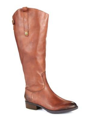 Penny – Wide Calf Leather Boots by Sam Edelman