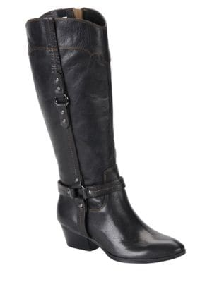 Porter Signature Leather Boots by Sofft