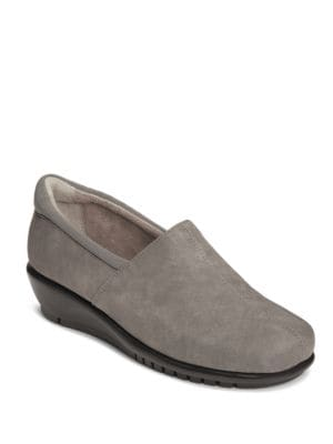 Backbend Nubuck Slip-On Shoes by Aerosoles