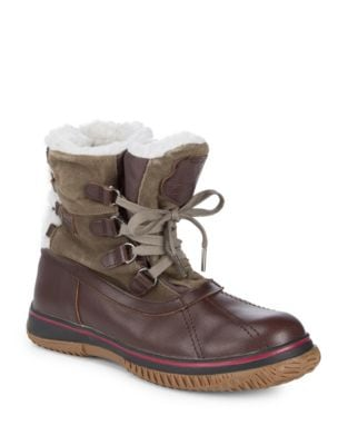 Iceland Waterproof Suede Sherpa Snowboots by Pajar