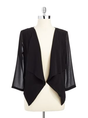 Draped Open-Front Jacket by Calvin Klein