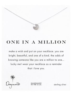 One In A Million Sterling Silver Sand Dollar Pendant Necklace 500070795281