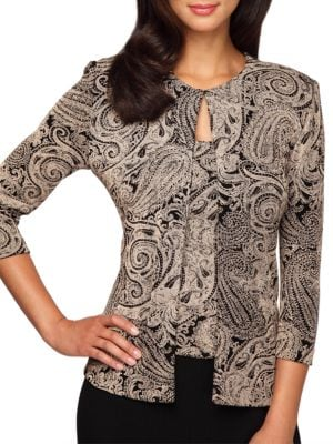 Plus Paisley Print Twinset by Alex Evenings