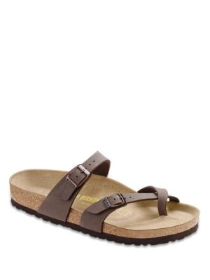Mayari Birkibuc Cross-Strap Sandals by Birkenstock