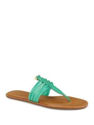 Saia Leather Thong Sandals by AERIN