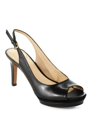 Able Leather Slingback Heels by Nine West