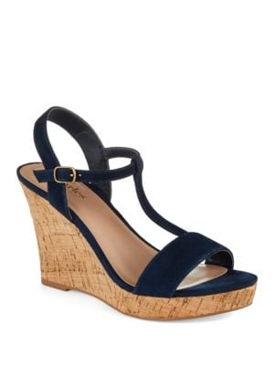 Libra Suede Wedge Sandals by Charles by Charles David