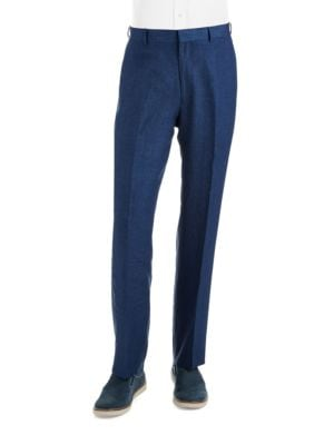 Classic Fit Linen Dress Pants by Palm Beach