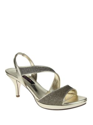 Newark Metallic Woven Open-Toe Sandals by Nina