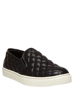 Ecentrcq Quilted Faux Leather Slip-On Sneakers 500074682956