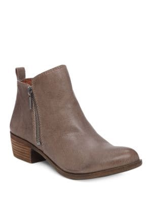 Basel Printed Suede Booties by Lucky Brand